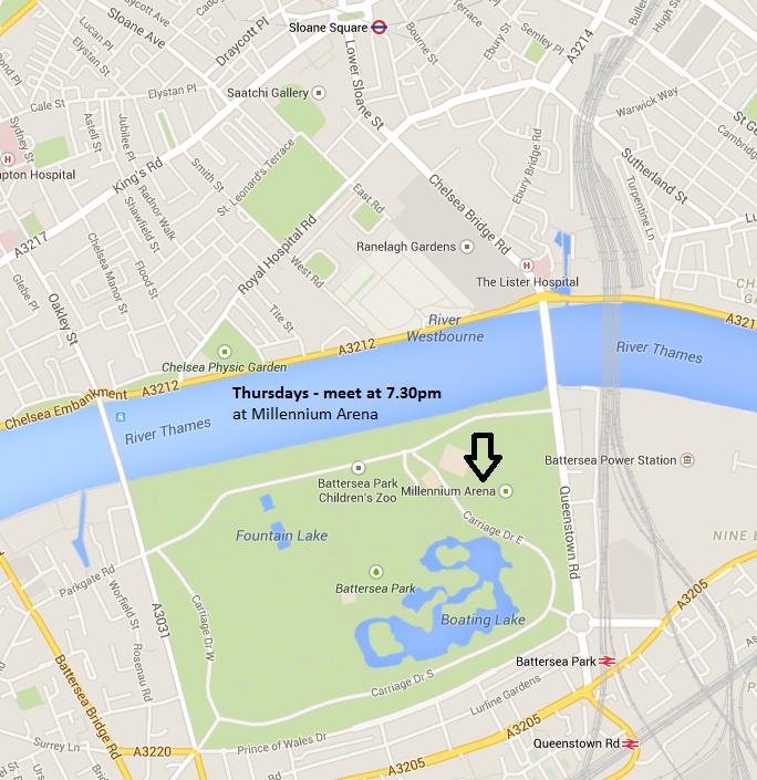 Battersea Park map