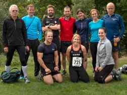 Clapham Runners - the red team and the green team