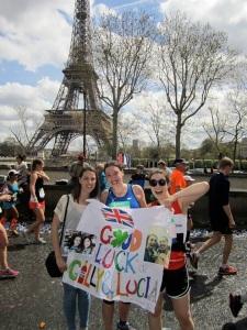 Eiffel tower paris marathon