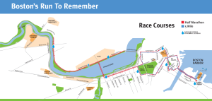 Boston half route map
