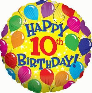 10th birthday balloon