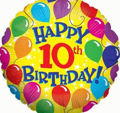 It's our 10thbirthday!