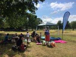 Clapham Runners 10th birthday picnic, 4th July 15