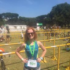 Niamh at the Singapore tri, 25th July 15