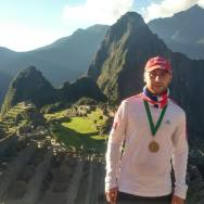 Rob at the Inca Trail finish line, July 2015