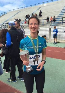 Annika winning yet another race in Greece!