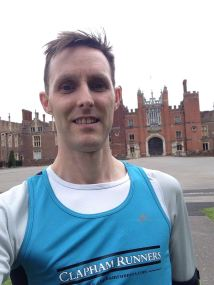 Martin at the Hampton Court start line