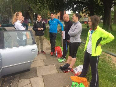 Team CR setting off on day 1