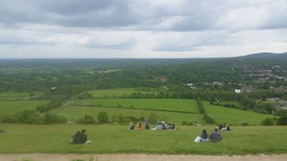 Views from Box Hill... between us we had to run up here, several times!