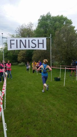 Krysia brining home the Clapham Runners to finish in 30th place!