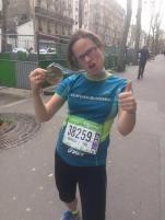 Mandy, 3h57 in the Paris Marathon