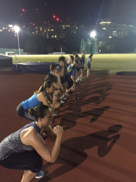 Core session after track, August 2016