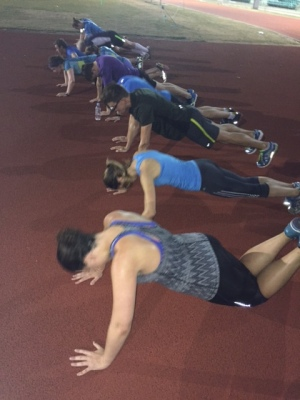 Strength and core work after Thursday track