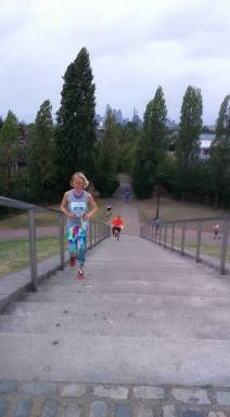 Krysia in the London Orienteering race Sept 2016