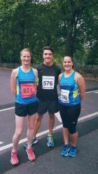 Before the Battersea Park Sri Chimnot 10k race, Sept 2016