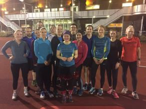 Track session December 20167 (like the tinsel Hannah!)