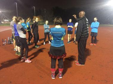 Gathered round in anticipation of the London Marathon draw December 2016